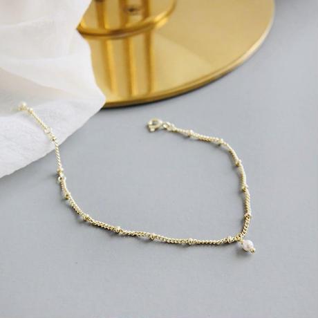 silver925 gold pearl bracelet