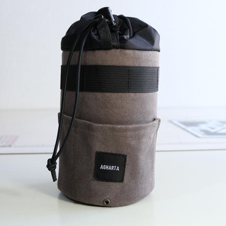Food Pouch Waxed Canvas Gray
