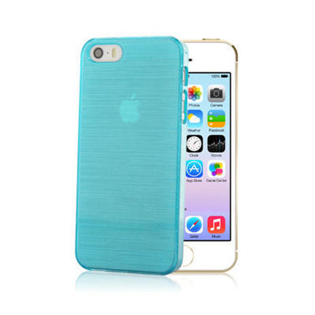 【SALE】iPhone5/5s スケルトンケース マリンブルー