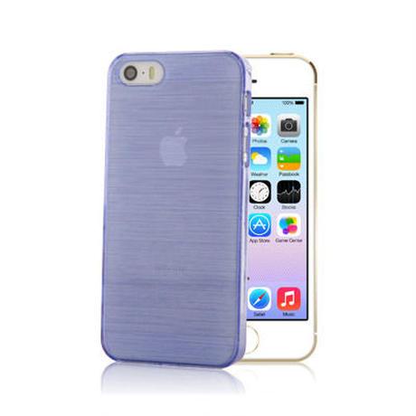 【SALE】iPhone5/5s スケルトンケース パープル