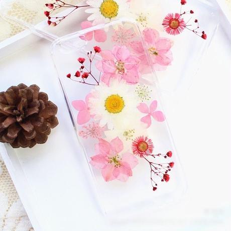 押し花♡ホワイト&ピンク