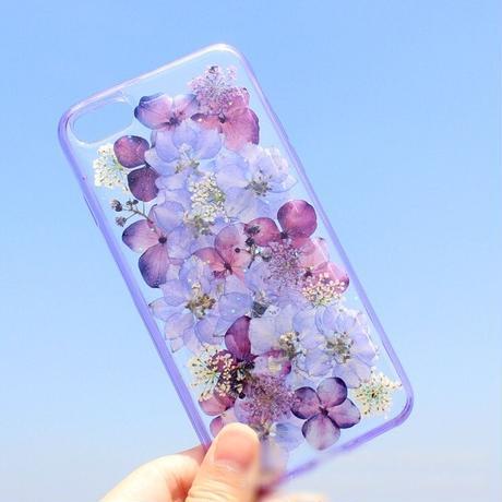 押し花☆紫フラワー