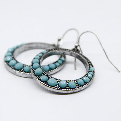 Turquoise ring earring