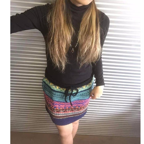 Colorful knit skirt  /  Candela