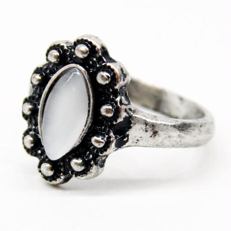 White Stone Ring 2