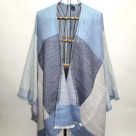 Blue Patchwork knit