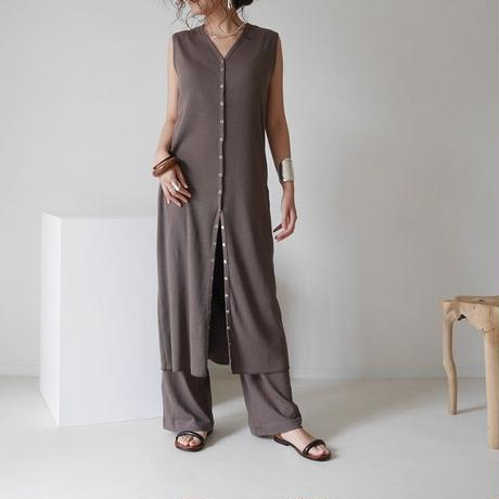 COTTON RIB FAMILIAR SET UP/DEEP BROWN