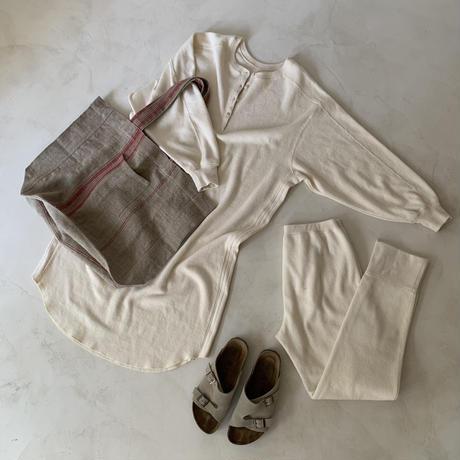 essential basic honeycomb reversible tunic long dress/cotton wool