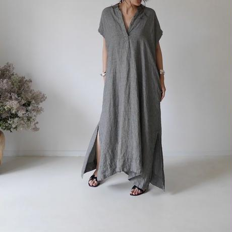 LINEN DYED ANMBIENCE  DRESS/GLENCHECK
