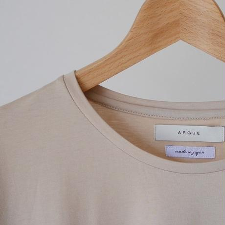 COTTON SILK JERSEY SMOOTH T-SHIRT/NUDE