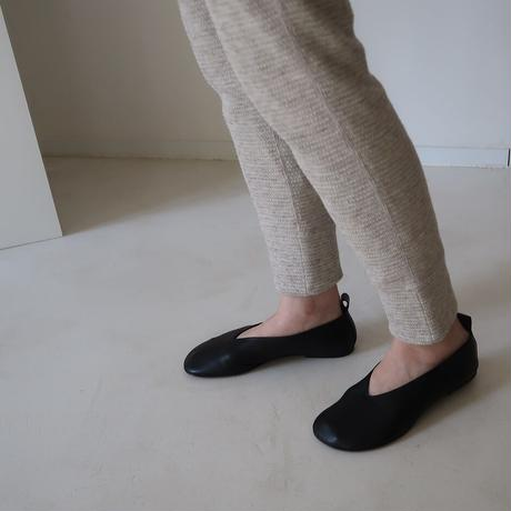 essential basic honeycomb base pants/cotton yak wool