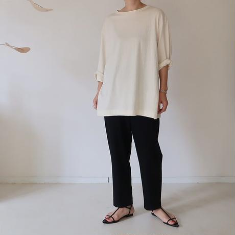 SIESTA COTTON WOOL WIDE RELAXY T-SHIRT/IVORY