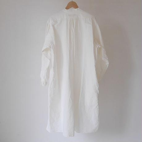 COTTON LINEN FRENCH VINTAGE EVENING DRESS TUNIC(WHITE)