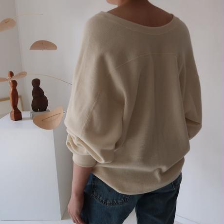 essential basic honeycomb reversible pullover/cotton wool