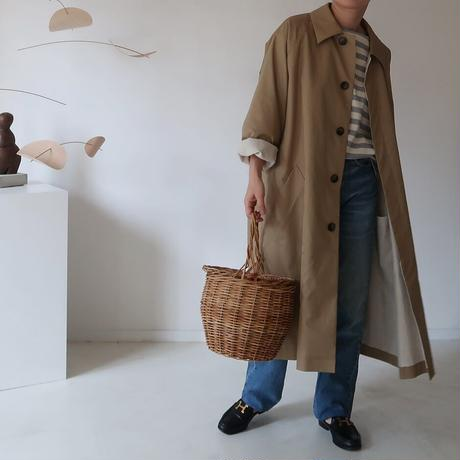 ※受注商品※MICORICH Burberry cotton balmacaan coat(撥水加工)  CAMEL