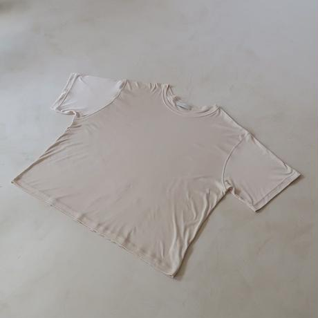 COTTON  RYOCEL OVER T SHIRT/BSKIN BEIGE