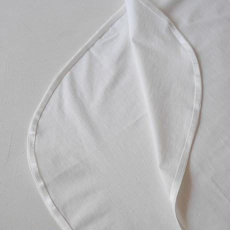 COTTON SILK JERSEY SMOOTH T-SHIRT/WHITE