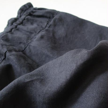 LINEN   TWILL  SOFTBIO  WASHABLE  EASY PANTS/BLACK