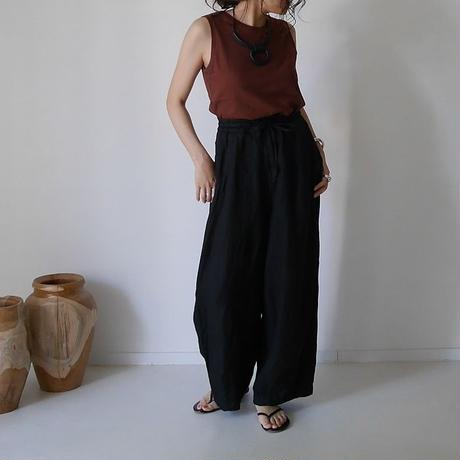 SOFT PLIABLE LINEN TWILL MOV PANTS/RUST BLACK