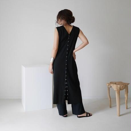 COTTON RIB FAMILIAR SET UP/BLACK