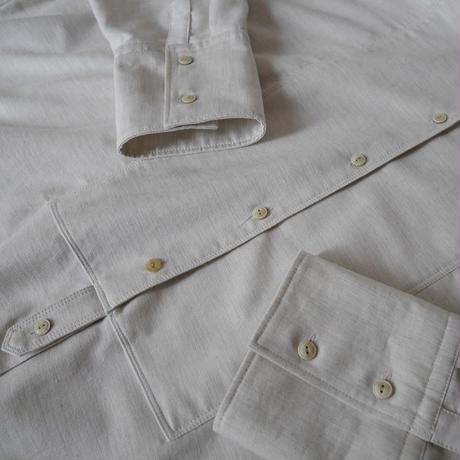 COTTON SUPPLE MOLESKIN WIDE DRESS SHIRT