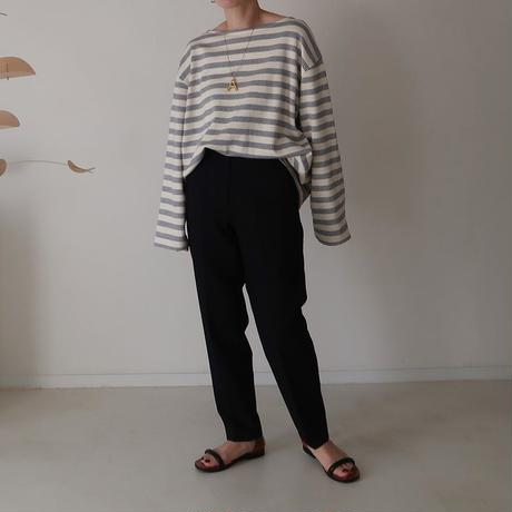 French Antique Border Pullover・BLUE