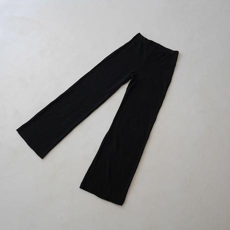 SIESTA SUNNY COTTON RIB PANTS  /BLACK