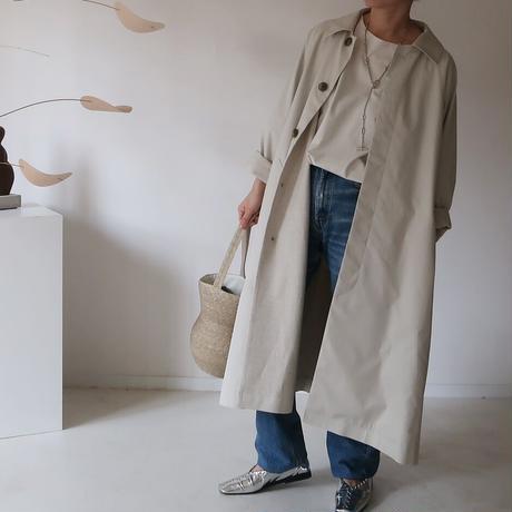 ※受注商品※MICORICH Burberry cotton balmacaan coat(撥水加工)  ECRU