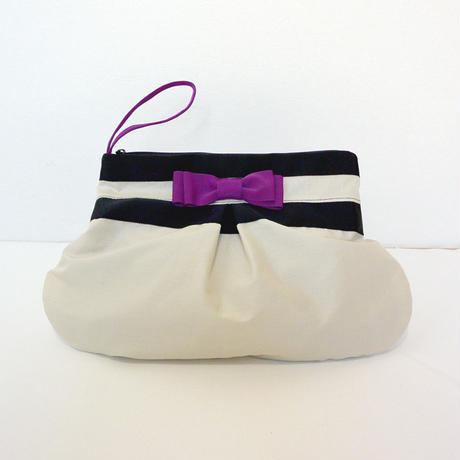 BAG&POECH SET(MOTHERS BAG クロ×クリーム)