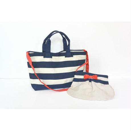 BAG&POECH SET(MOTHERS BAG コン×クリーム)