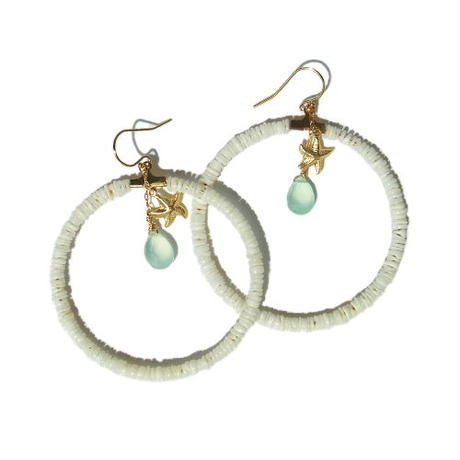 Shell Hoop × Chalcedony Pierce