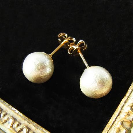Cotton pearl Pierce -8mm-