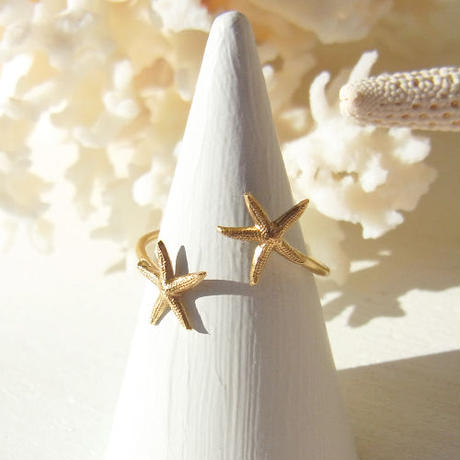 Double Starfish Ring -B-