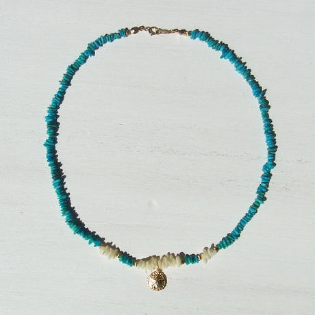 Turquoise × Sand dollor Necklace