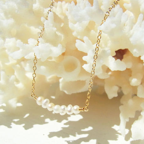 Skinny Pearl Necklace