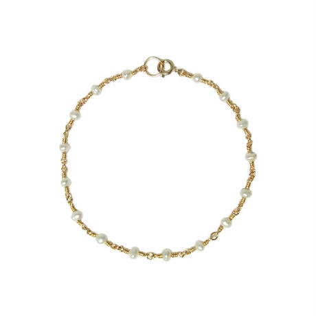 Tiny Pearl Bracelet -Single-