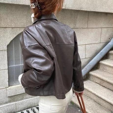 カジュアルレザージャケット