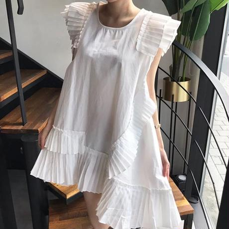 アシメプリーツドレス