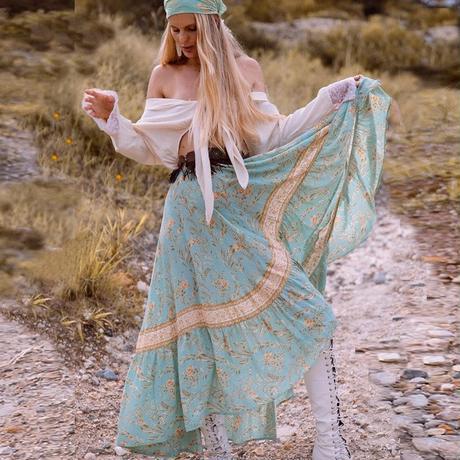 ボヘミアンフィッシュテールスカート