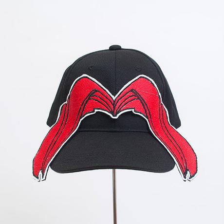 髪型帽(レッドわけめ)