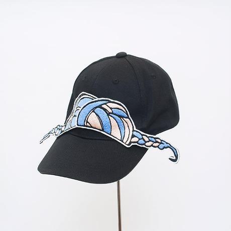 髪型帽(寄せだんごブルー)