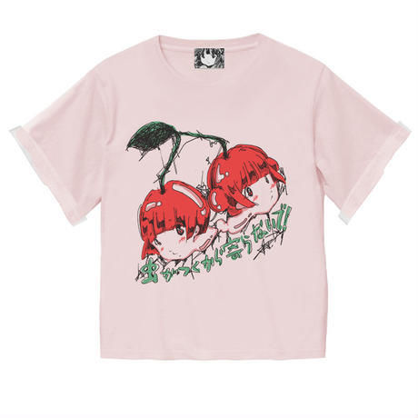 さくらんぼの双り言T(パステルピンク)  / CHERRY-T (PASTEL PINK)