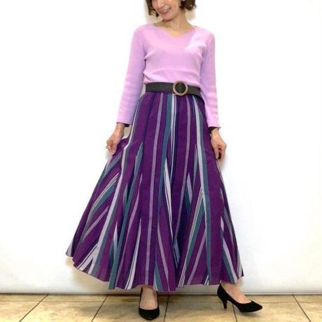 【PASSIONE/パシオーネ】コットンストライプスカート