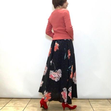 【Coomb/クーム】ビッグフラワープリントのアシンメトリースカート
