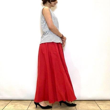 【PASSIONE/パシオーネ】フレンチリネンマキシスカート