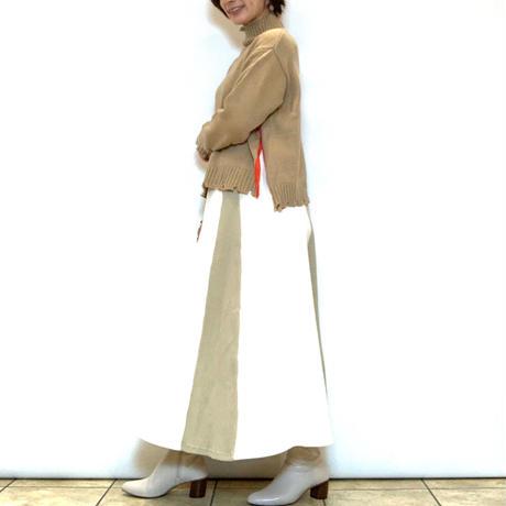 【Mylanka/ミランカ】サイド配色ハイネックニット