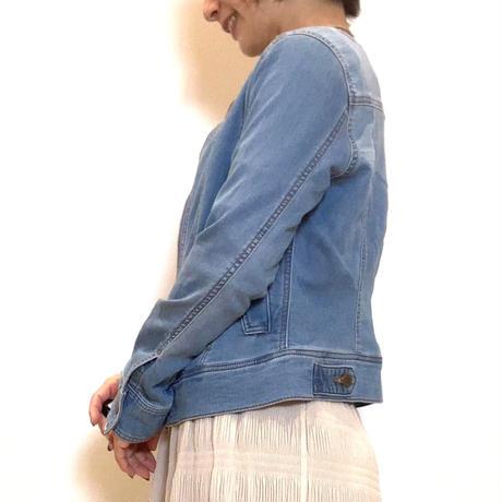 【BEATRICE/ベアトリス】ノーカラーデニムジャケット