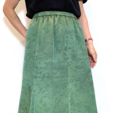 【ma couleur/マクルール】サテンマーメイドスカート