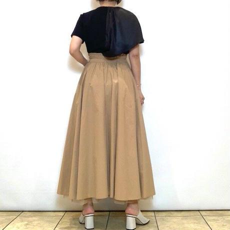 【HERENCIA/ヘレンチア】サテンアシンメトリーカットソー