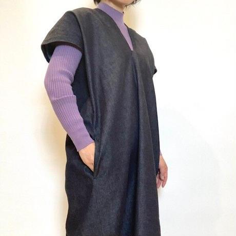 【CAPIS/カピス】デニムジャンパースカート